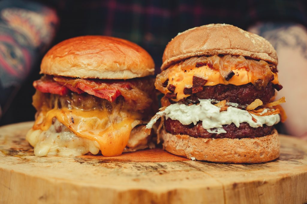 Two kinds of cheeseburgers