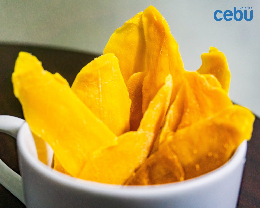 dried mangoes in a cup