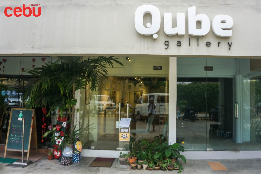 Entrance of the Qube Gallery