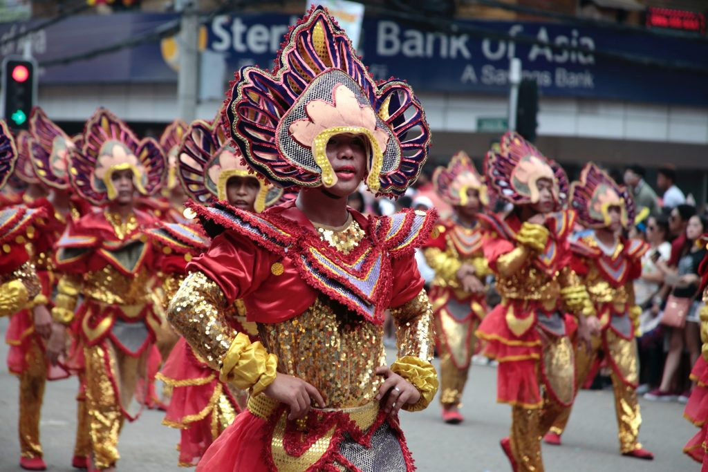 A contingent of the Sinulog Festival performing their street dance routine